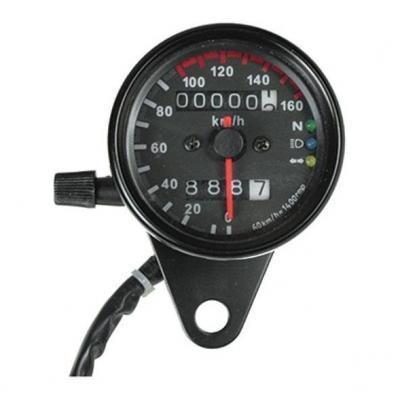Compteur de vitesse Chaft noir
