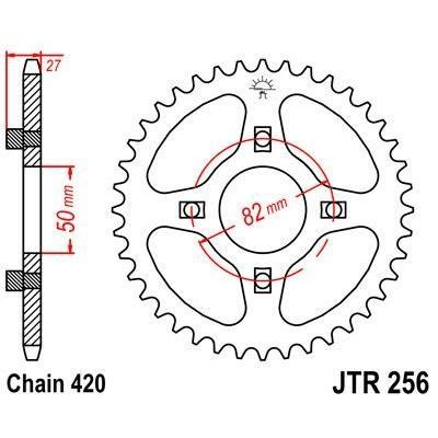 Couronne JT Sprockets Acier pas 420 38 dents - Pour Honda C50 70-75
