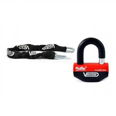 Ensemble chaîne + cadenas bloque-disque Vector Minimax+ 1,30 cm