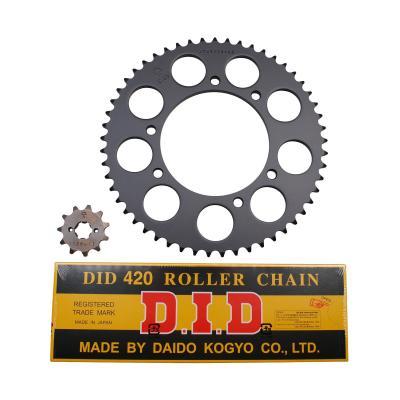 Kit chaîne DID pas 420 11x53 démultiplication d'origine alésage 105 mm adaptable Rx 2006>2007
