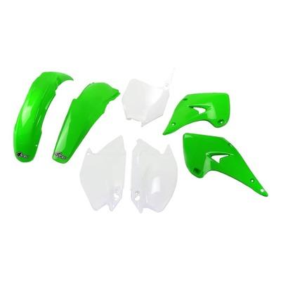 Kit plastique UFO Kawasaki 125/250 KX 03-04 vert /blanc (couleur origine)