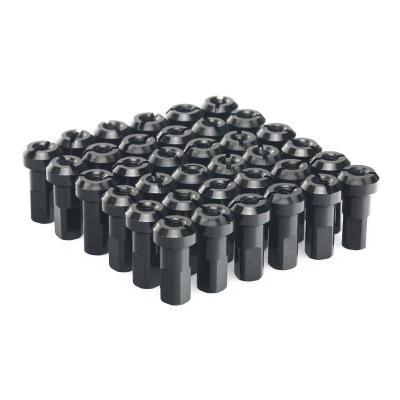 Kit têtes de rayon universel anodisées ART noir (36 pièces)