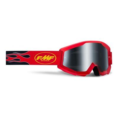 Masque cross FMF Vision PowerCore Sand Flame rouge - écran fumé