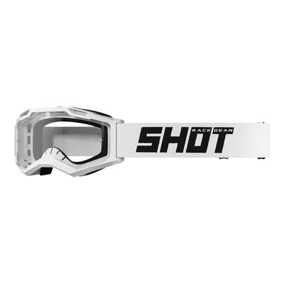 Masque cross Shot Assault 2.0 Solid blanc brillant- écran transparent