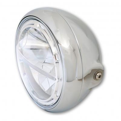 Phare LED Highsider Voyage HD-Style fixation inférieure chromé