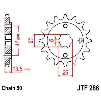 Pignon JT Sprockets Acier pas 520 15 dents - Pour Honda VF 500 C Magna 84-85