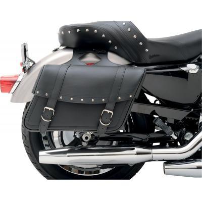 Sacoches latérales Saddlemen Highwayman Slant Style Desperado Jumbo noires/chromées