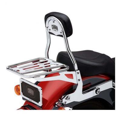Sissybar amovible Cobra tube rond chromé Harley Davidson FLS 1690 Softail Slim 12-17