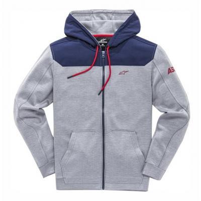 Sweat zippé à capuche Alpinestars Venom grey heather/navy