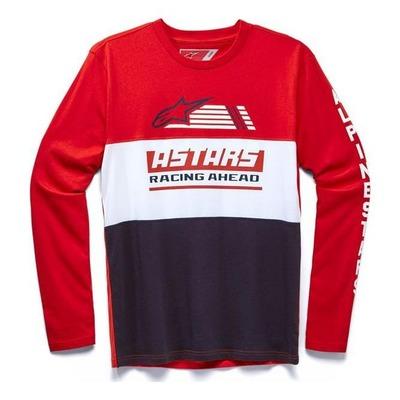 T-shirt manches longues Alpinestras Blaze classic rouge/blanc/navy