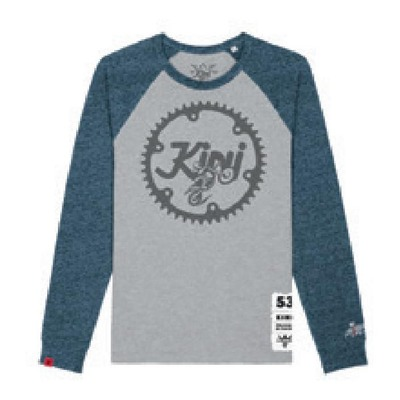 T-shirt manches longues Kini Red Bull Ritzel gris chiné/bleu chiné