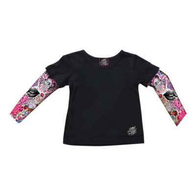 Tee-shirt manche longue enfant Lethal Threat Wings Kid's Girl's Tatoo noir/rose