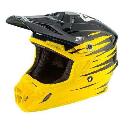 Visière de casque cross Answer AR1 Pro jaune/midnight/blanc brillant