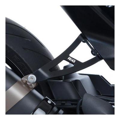Patte de fixation de silencieux R&G Racing noire Husqvarna Vitpilen 701 18-20