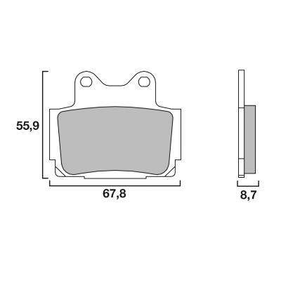 Plaquettes de frein Brembo carbone-céramique 07YA1207