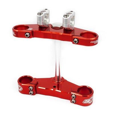 Té de fourche complet rouge S3 Ø 39mm pour trial Gas Gas Pro