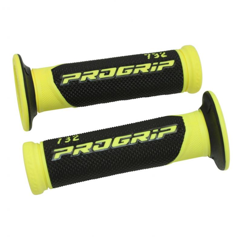 Revêtements de poignée 732 Progrip Closed end noir/jaune fluo