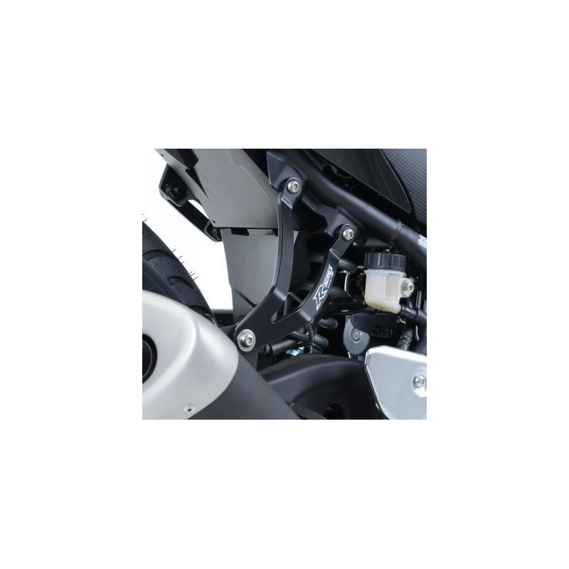 Patte de fixation de silencieux R&G Racing noire Yamaha YZF-R3 15-18 - 3
