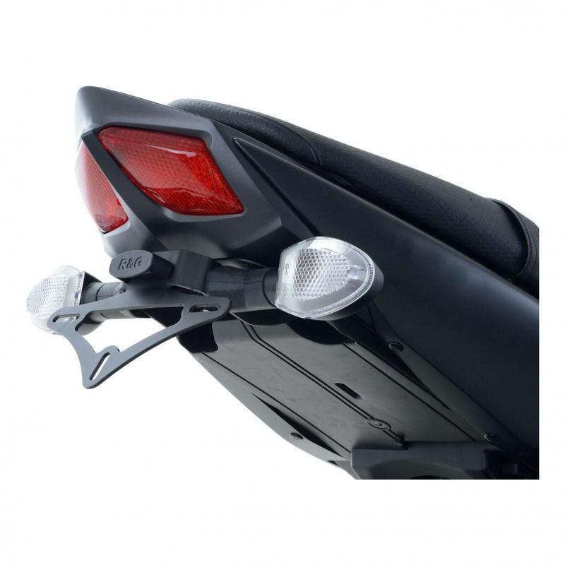 Support de plaque d'immatriculation R&G Racing noir Ducati Streetfighter 1098 09-13