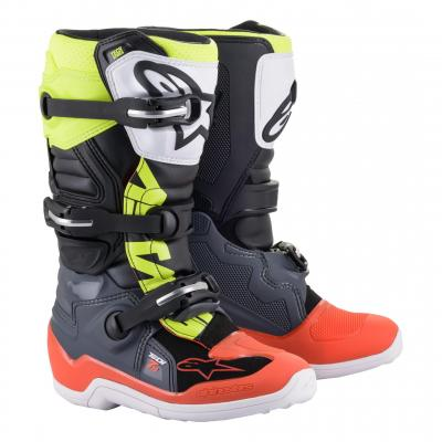 Bottes cross Alpinestars Tech 7S orange fluo