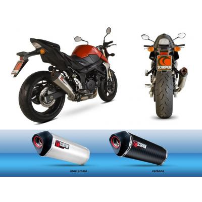 Silencieux homologué Scorpion Serket parallèle carbone pour Suzuki GSR 750 11-16