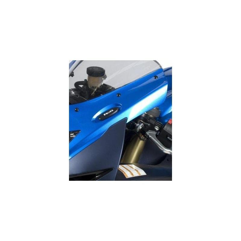 Caches orifices de rétroviseurs R&G Racing noirs Suzuki GSX-R 750 12-18