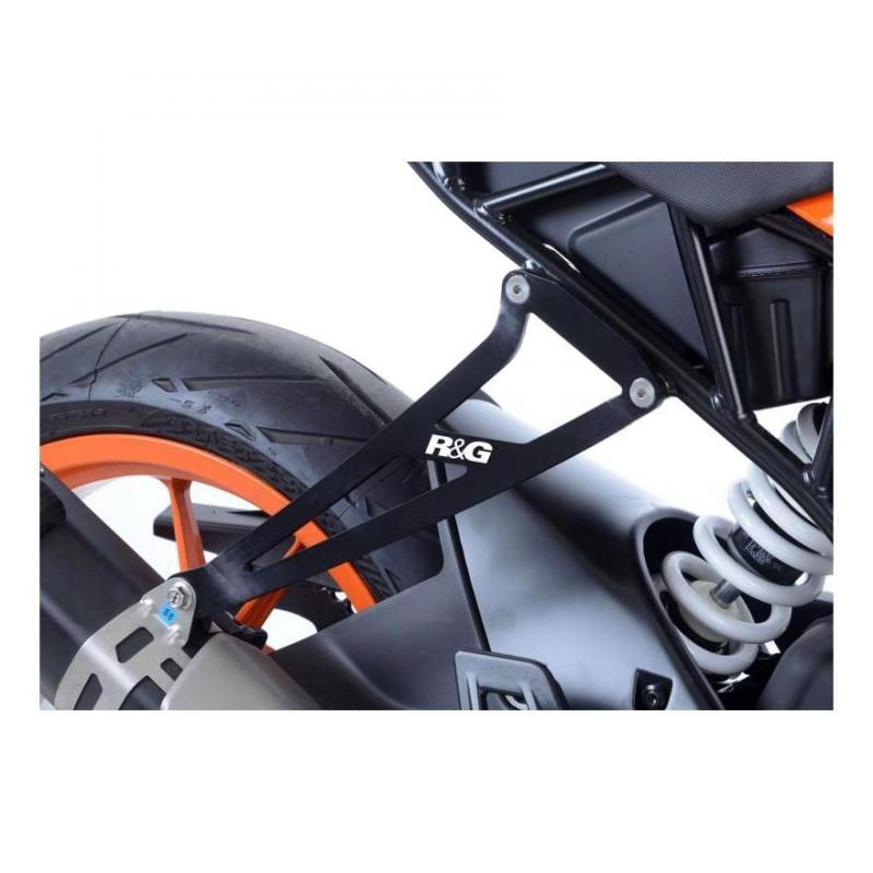 Patte de fixation de silencieux R&G Racing noire KTM RC 390 17-18