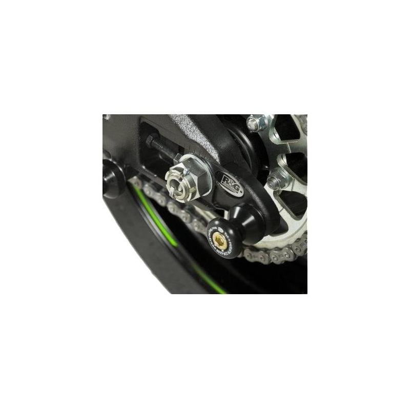 Diabolos de bras oscillant R&G Racing noir sur platine Kawasaki ZX-10R 11-15