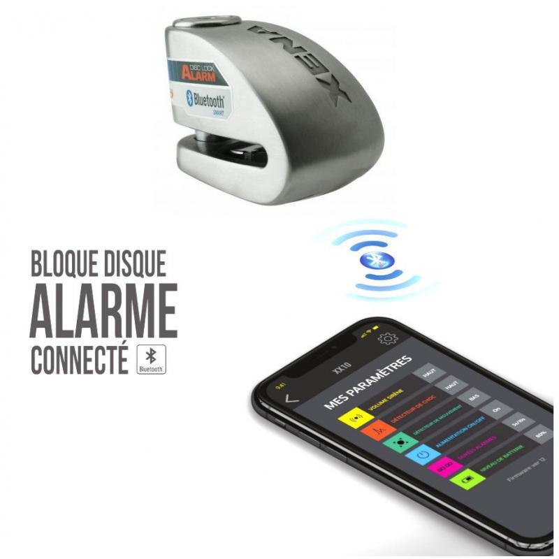 Antivol bloque disque connecté avec alarme Xena XX14 Bluetooth SRA