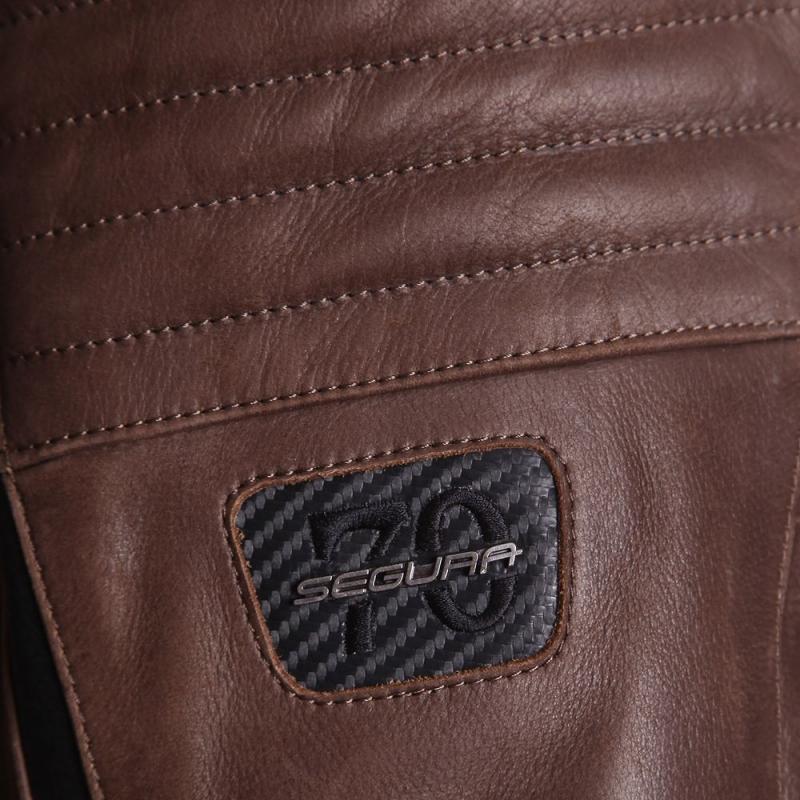 Blouson cuir Segura HORNER marron/noir - 4