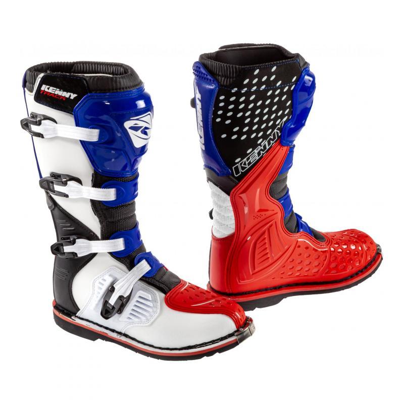 Bottes cross Kenny Track Patriot bleu/blanc/rouge