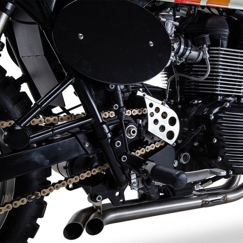 Carter de pignon de sortie de boîte British Customs noir pour Triumph Bonneville T100 02-16 - 1