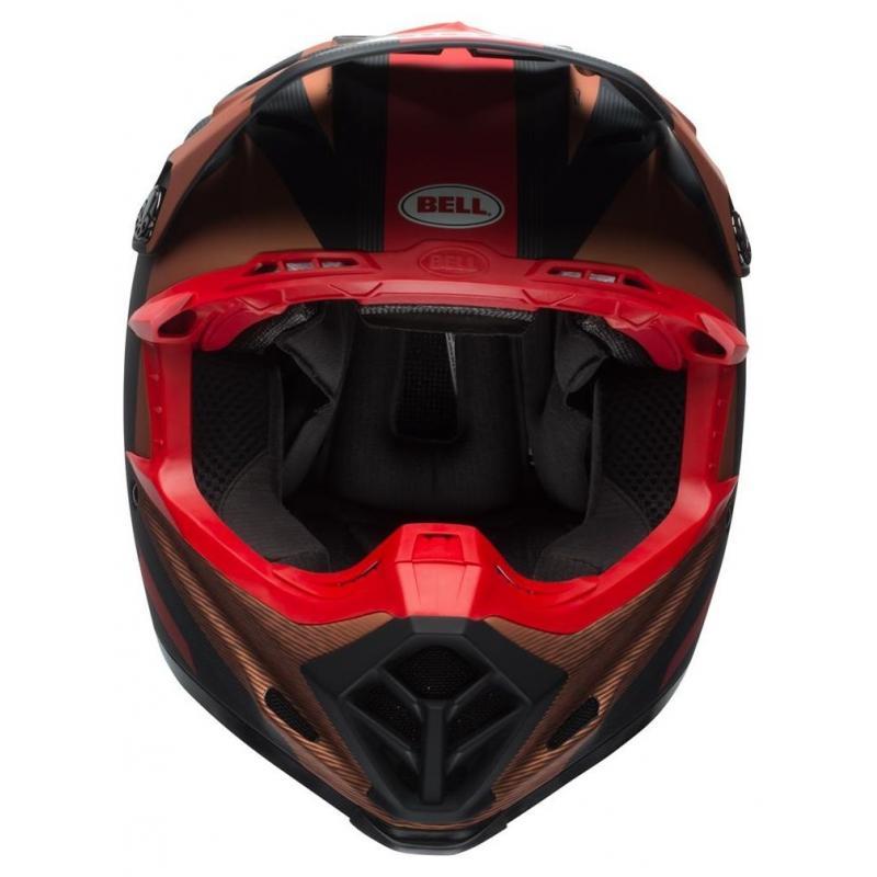 Casque cross Bell Moto 9 Flex Matte copper/black vice - 2