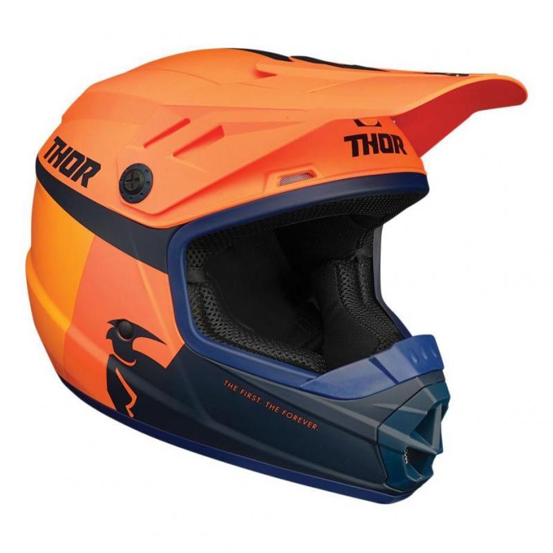 Casque cross enfant Thor Sector Racer orange/midnight mat