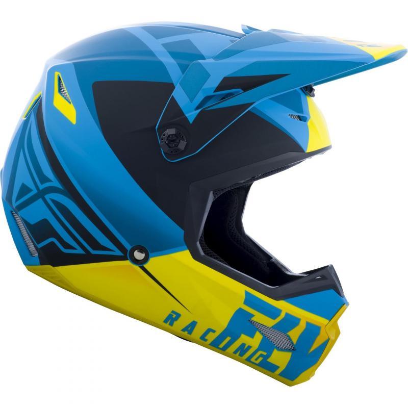Casque cross Fly Racing Elite Vigilant bleu/jaune/noir - 1