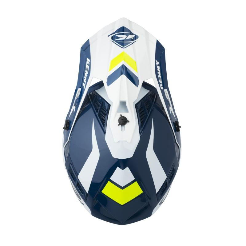 Casque cross Kenny Trophy navy/blanc - 2