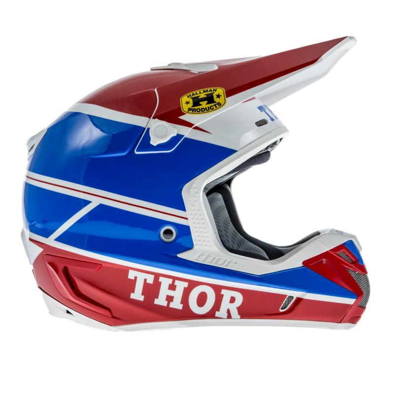 Casque Cross Thor Verge Pro Gp Bleu/Rouge - 2
