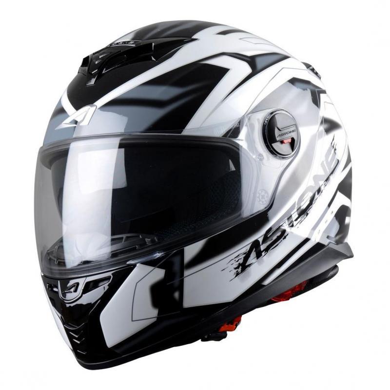 Casque Intégral Astone Gt800 Solid Exclusive Futura noir/gris
