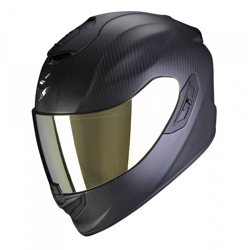 Casque intégral Scorpion Exo-1400 Air Carbon Solid Mat noir