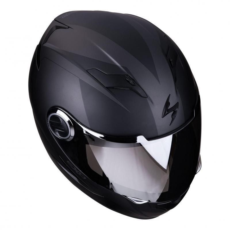 Casque intégral Scorpion Exo-490 Pace Mat noir/argent - 2