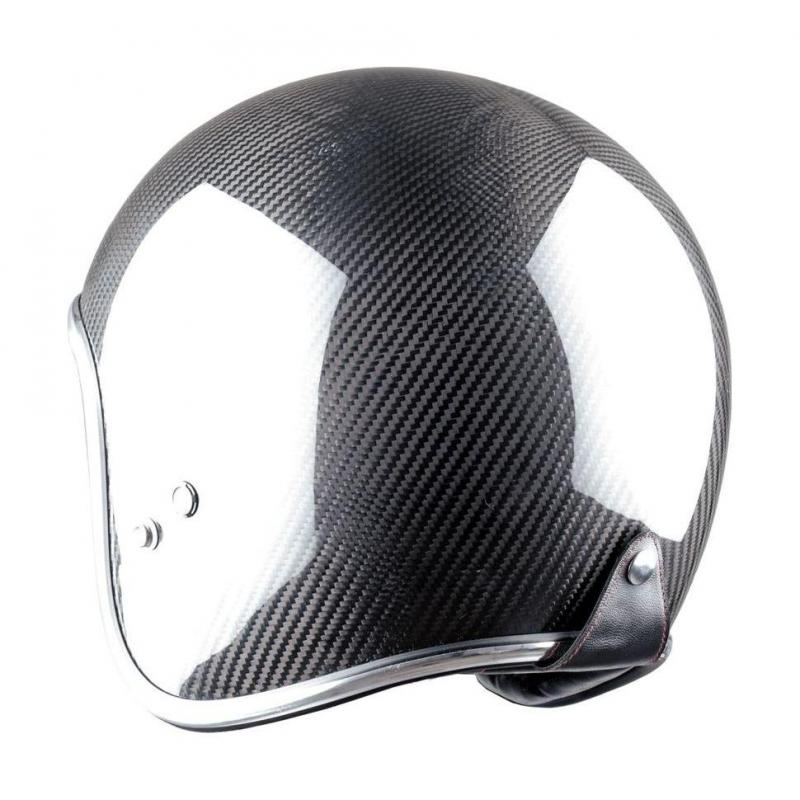 Casque jet Astone VINTAGE graphic carbone/noir - 2
