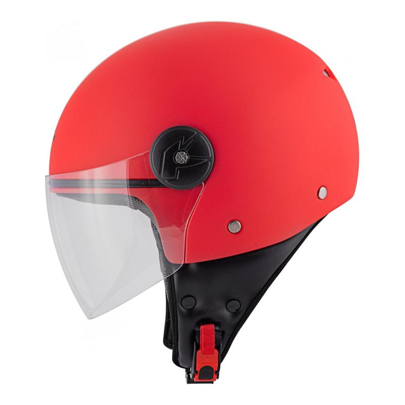 Casque jet Kappa KV40 Hawaii Basic rouge mat - 1