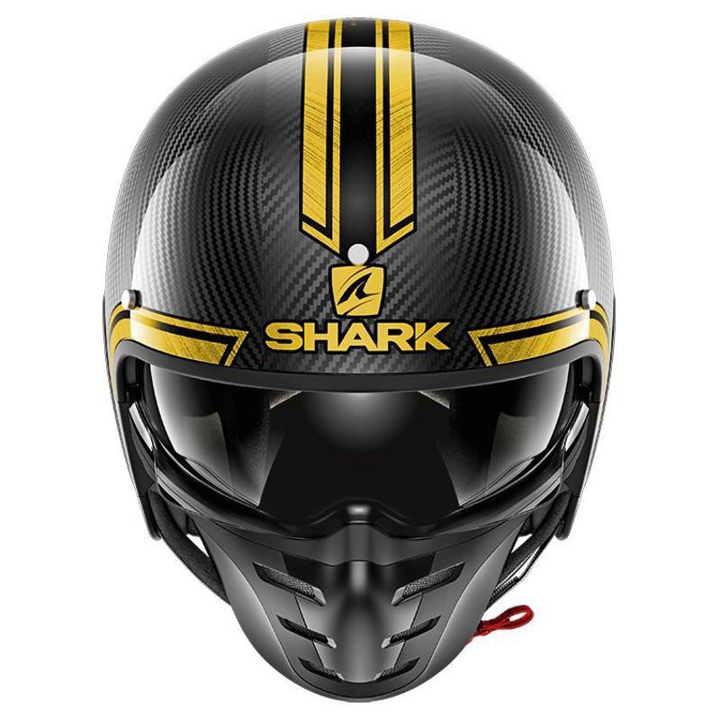 Casque jet Shark S-DRAK VINTA carbone/chrome/or - 2