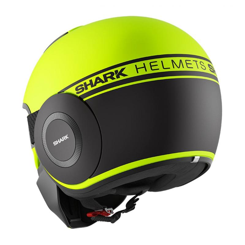 Casque jet Shark Street-Drak Neon Mat jaune/noir/noir - 1