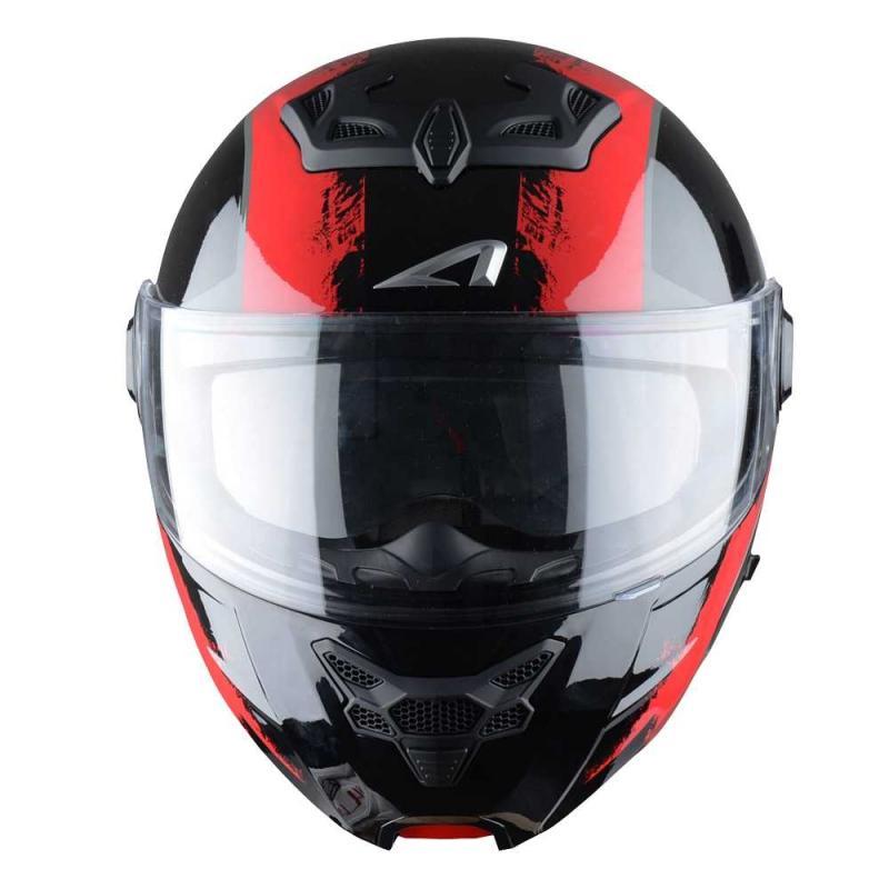Casque Modulable Astone Rt800 Graphic Exclusive Venom noir/rouge - 3