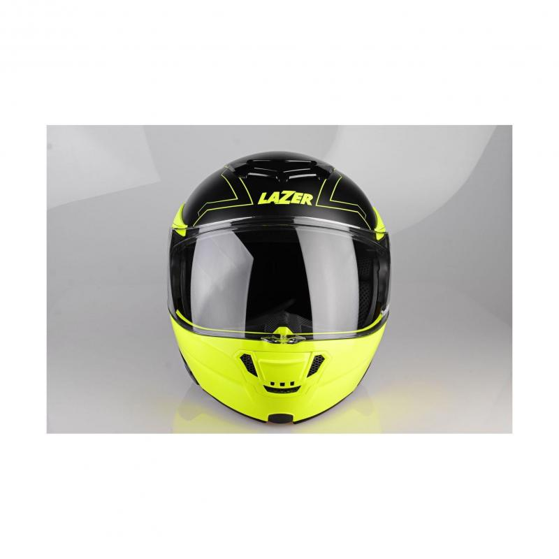 Casque modulable Lazer MONACO EVO Droid Pure Glass noir mat/jaune fluo - 2