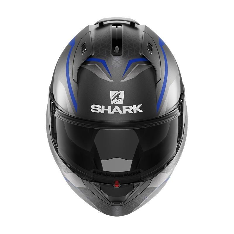 Casque modulable Shark EVO ES Yari Mat anthracite/bleu/argent - 3