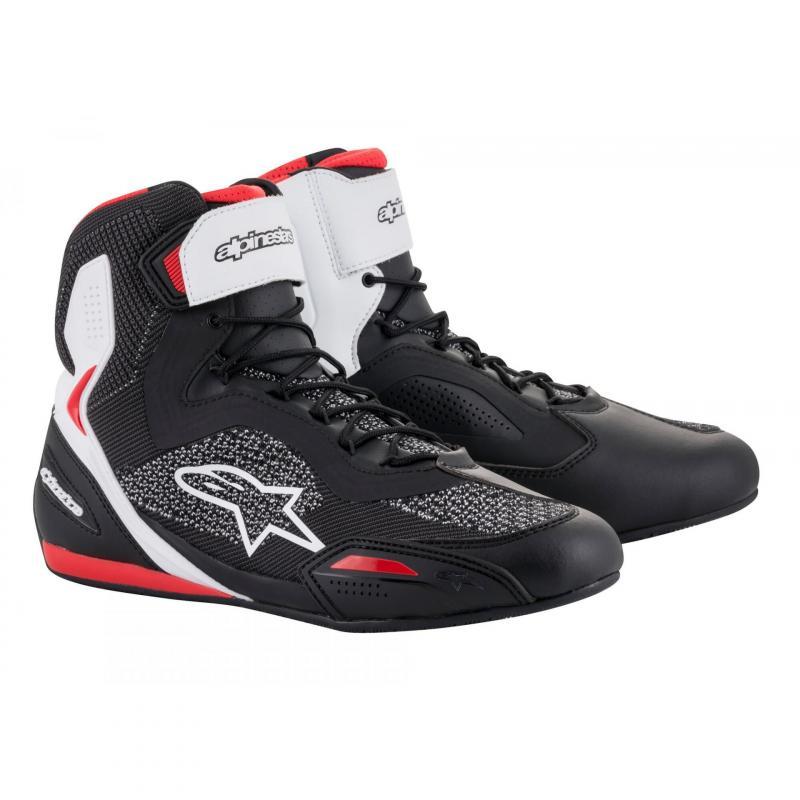 Chaussures moto Alpinestars Faster 3 Rideknit noir/blanc/rouge