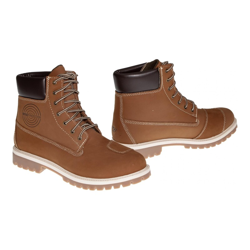 Chaussures moto cuir/textile Ixon Mud WP moka