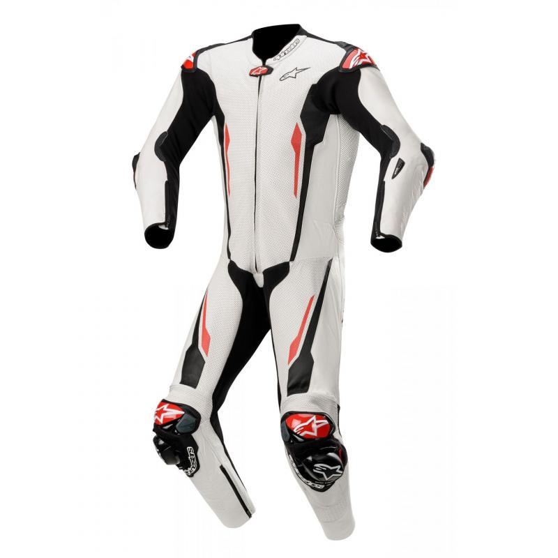 Combinaison 1 pièce Alpinestars Racing Absolute compatible Tech-Air blanc/noir
